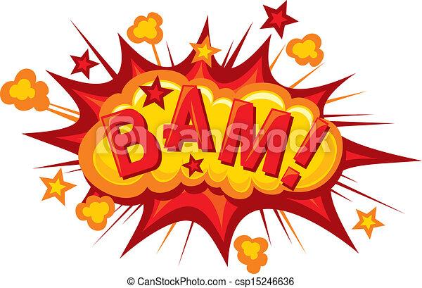 cartoon - bam (Comic bam explosion) - csp15246636