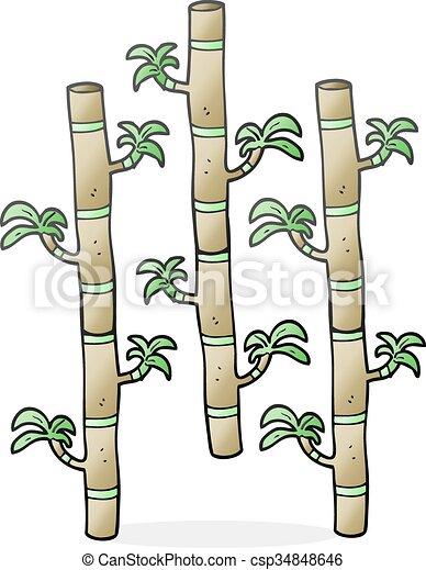 2452383598c3 Freehand drawn cartoon bamboo.