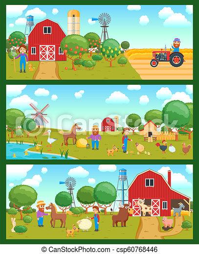 Cartoon banners set - csp60768446