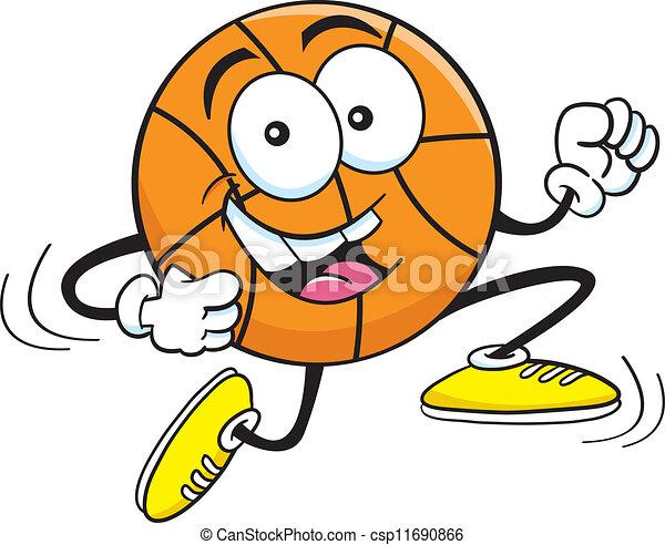 Cartoon Basketball Running - csp11690866