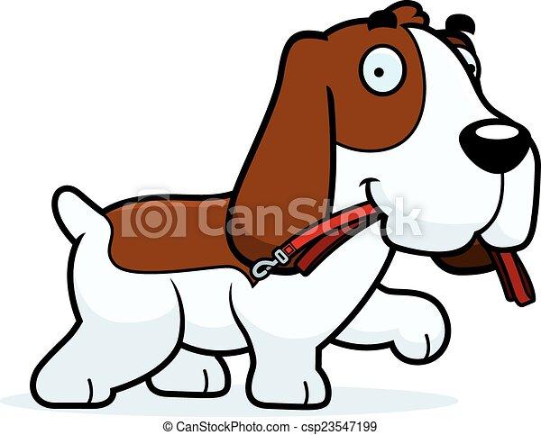 Cartoon Basset Hound Leash - csp23547199