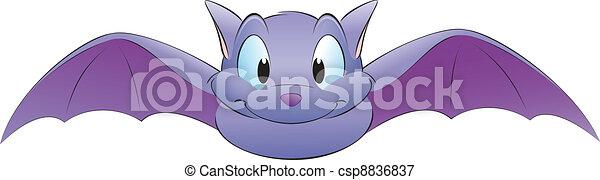 Cartoon Bat - csp8836837