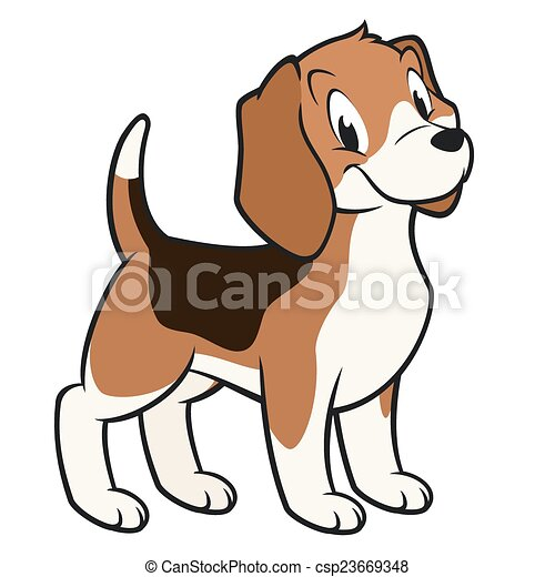 cartoon beagle cartoon vector illustration of a funny beagle for rh canstockphoto com beagle clip art work bagel clipart