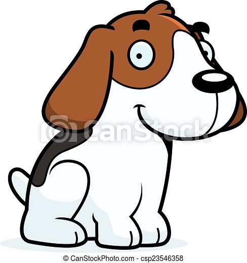 cartoon beagle sitting a cartoon illustration of a beagle rh canstockphoto com beagle clipart free beagle clip art work