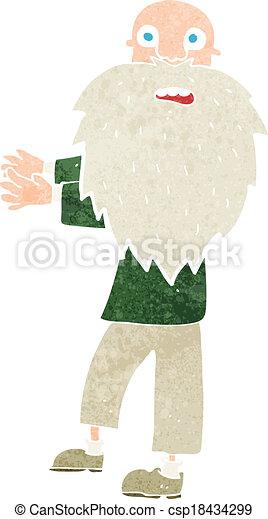 cartoon bearded old man - csp18434299
