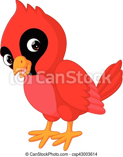 illustration of cartoon beautiful cardinal bird vector clip art rh canstockphoto com red angry bird clipart red bird clip art free