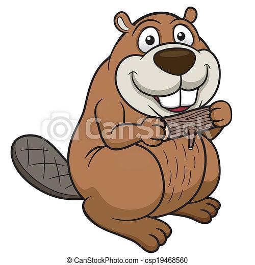 vector illustration of cartoon beaver with a wood clip art vector rh canstockphoto com beaver clip art free beaver clip art free
