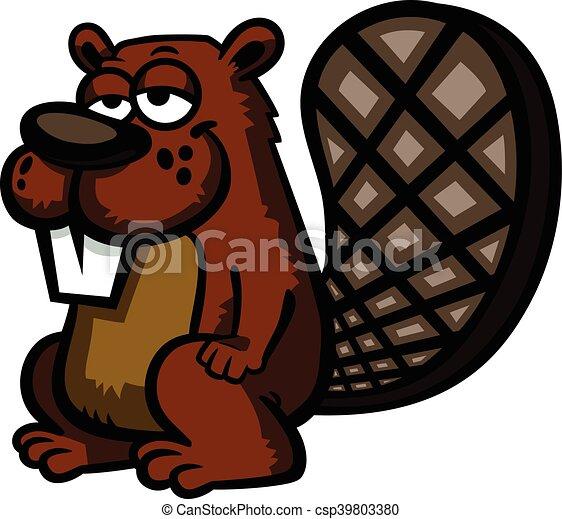 Beaver tree cartoon