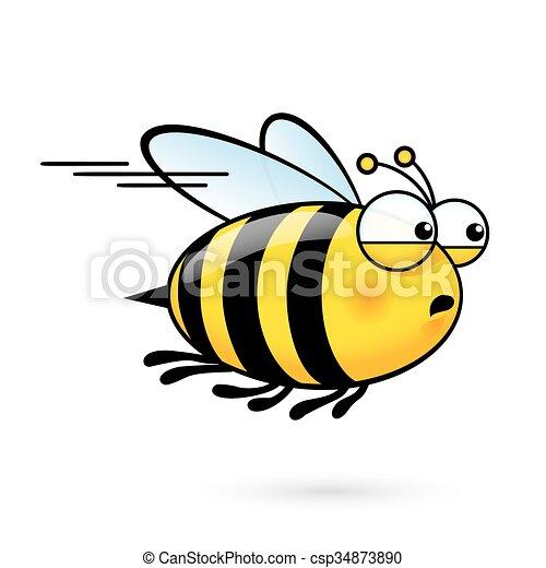 Cartoon Bee - csp34873890