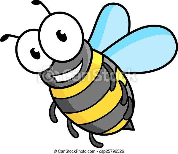 Cartoon bee or wasp character - csp25796526