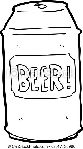 cartoon beer can rh canstockphoto com 6 Pack Beer Clip Art beer can pictures clip art