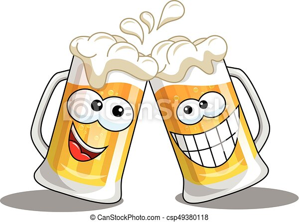 cartoon beer mugs cheers isolated cartoon beer mug making vector rh canstockphoto com cheers clipart png beer cheers clipart