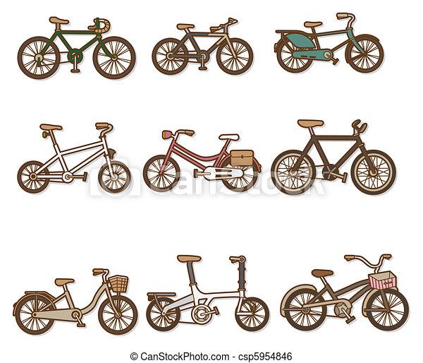 cartoon bicycle - csp5954846