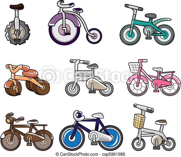 cartoon bicycle - csp5961986