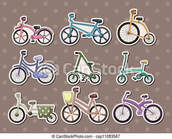 cartoon Bicycle stickers - csp11083567