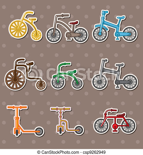 cartoon Bicycle stickers - csp9262949