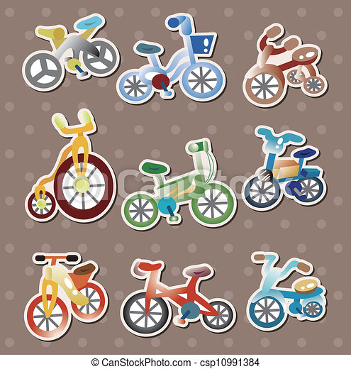 cartoon Bicycle stickers - csp10991384