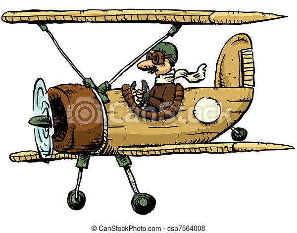 cartoon biplane a cartoon biplane rh canstockphoto com airplane clip art free airplane clip art free