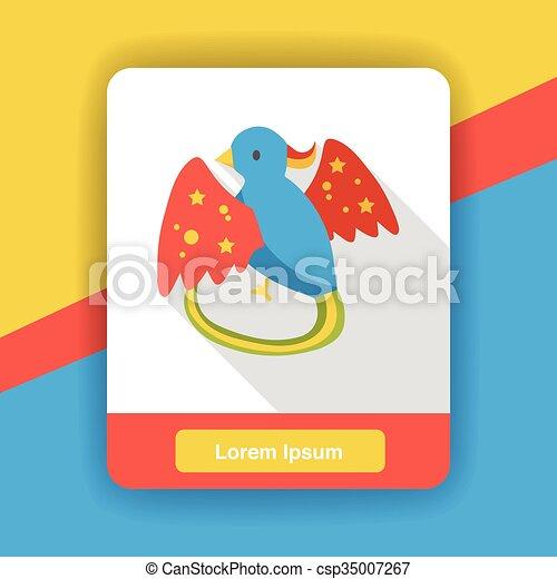 cartoon bird flat icon - csp35007267