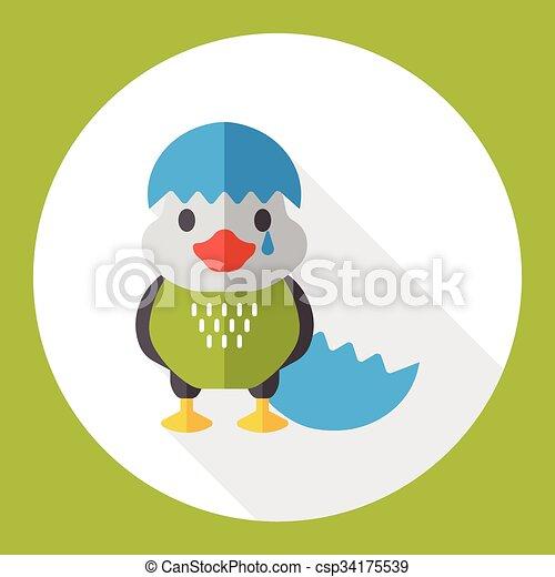 cartoon bird flat icon - csp34175539