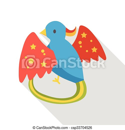 cartoon bird flat icon - csp33704526