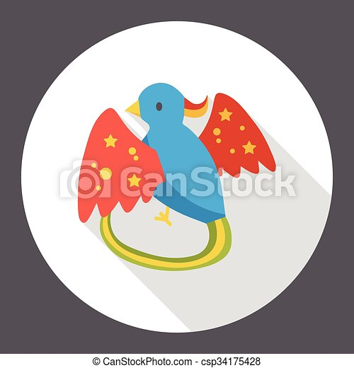 cartoon bird flat icon - csp34175428