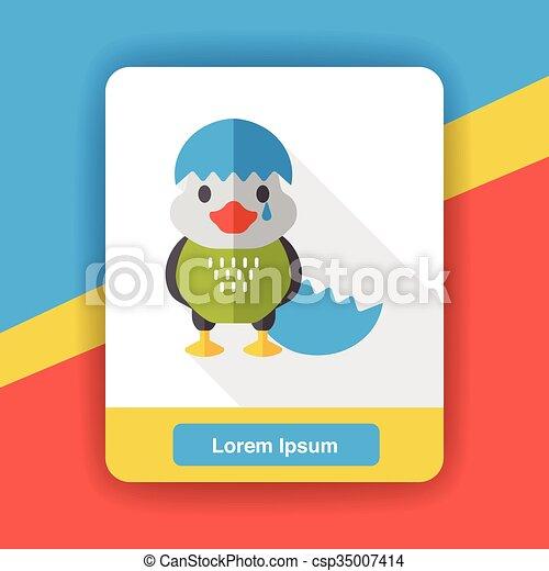 cartoon bird flat icon - csp35007414