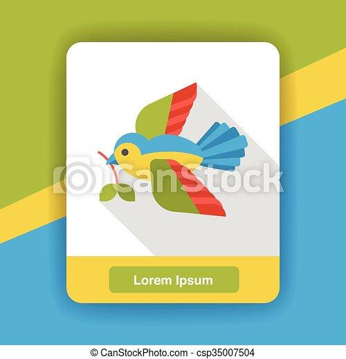cartoon bird flat icon - csp35007504