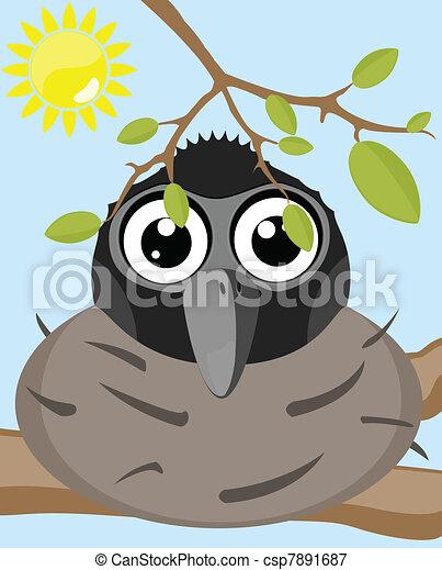 cartoon bird  - csp7891687