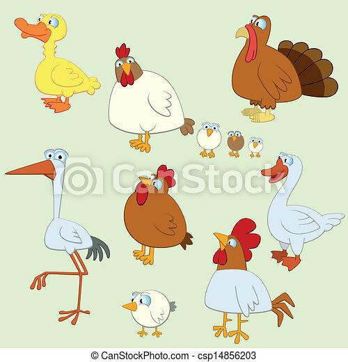 Cartoon Bird Set - csp14856203