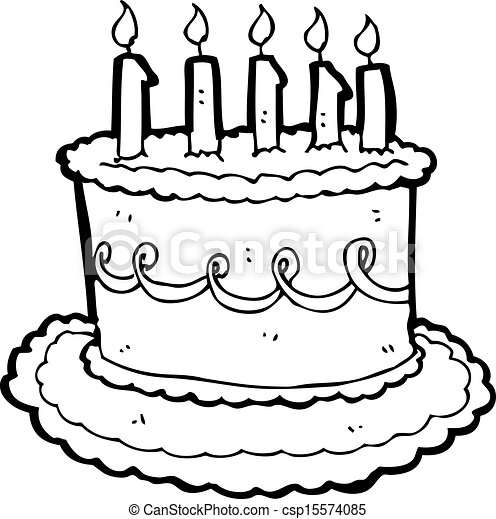 Cartoon birthday cake vector Search Clip Art Illustration