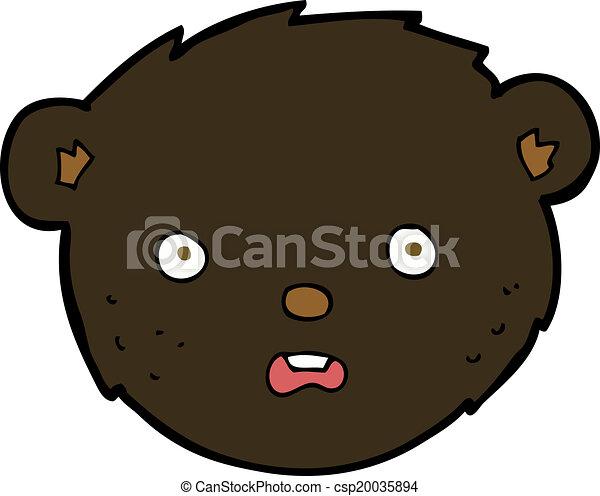 cartoon black bear face eps vectors search clip art illustration rh canstockphoto co uk cartoon bear black mirror cartoon bear black and white