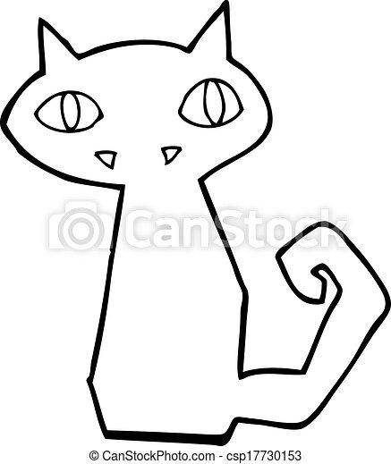 cartoon black cat - csp17730153