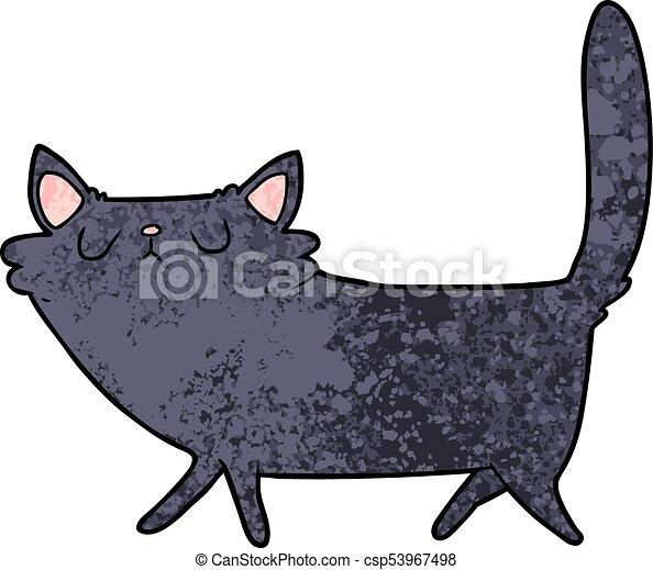 cartoon black cat - csp53967498