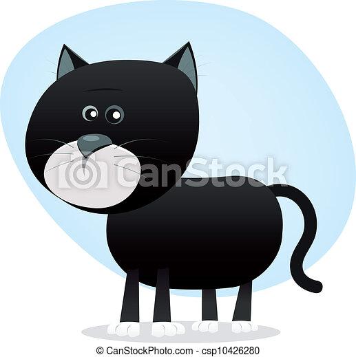 Cartoon Black Cat - csp10426280