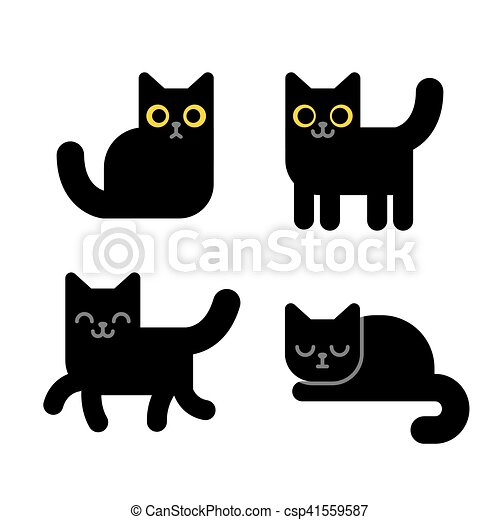 Cartoon black cat - csp41559587