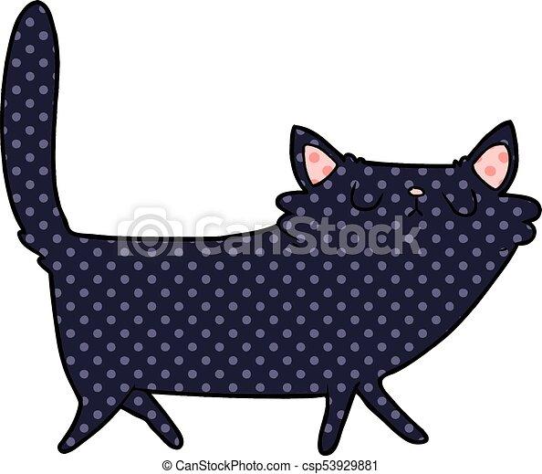 cartoon black cat - csp53929881