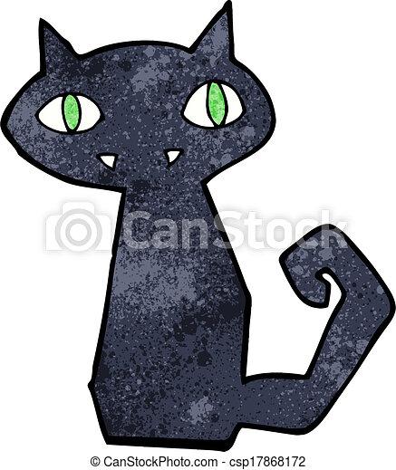 cartoon black cat - csp17868172