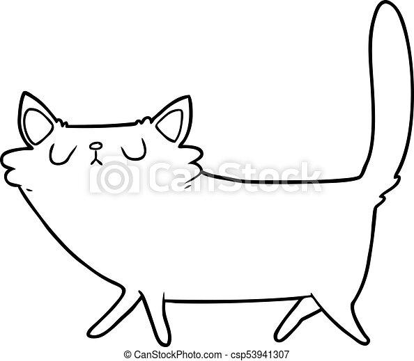 cartoon black cat - csp53941307