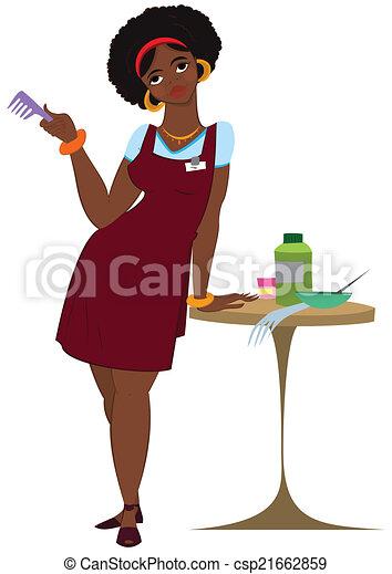 Illustration of cartoon female character isolated on white ...
