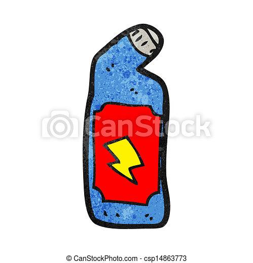 Vectors Illustration Of Cartoon Bleach Bottle Csp14863773