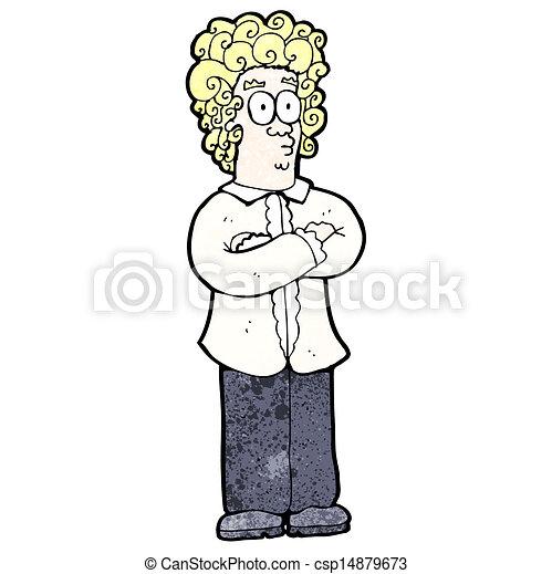 Cartoon Blond Man With Curly Hair