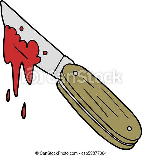 cartoon bloody knife rh canstockphoto com knife with blood clipart Blood Splatter Clip Art