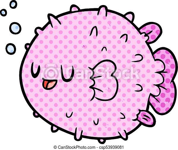 cartoon blowfish - csp53939081