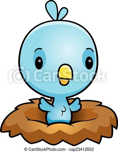 cartoon blue bird nest a cartoon illustration of a baby clipart rh canstockphoto com bird nest clip art free weaver bird nest clipart