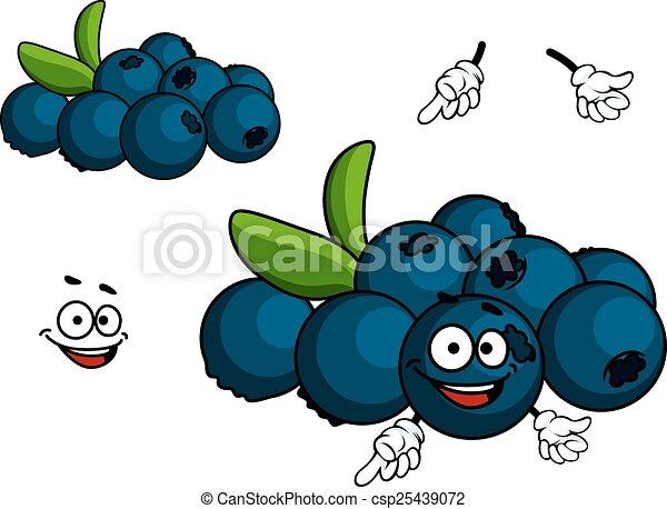 Cartoon Blueberry character - csp25439072