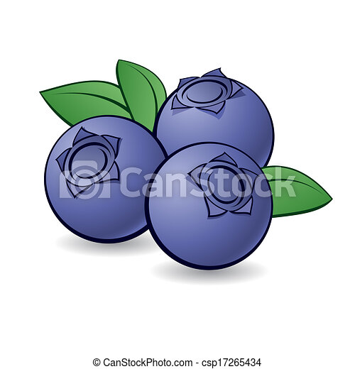 Cartoon blueberry. - csp17265434