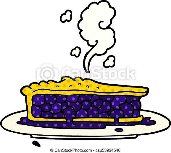 cartoon blueberry pie - csp53934540