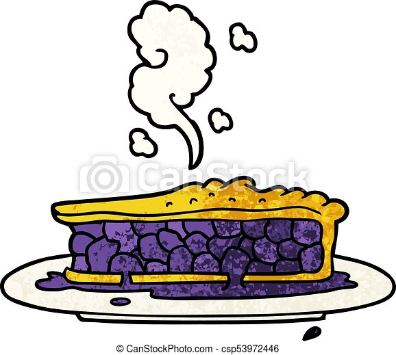 cartoon blueberry pie - csp53972446
