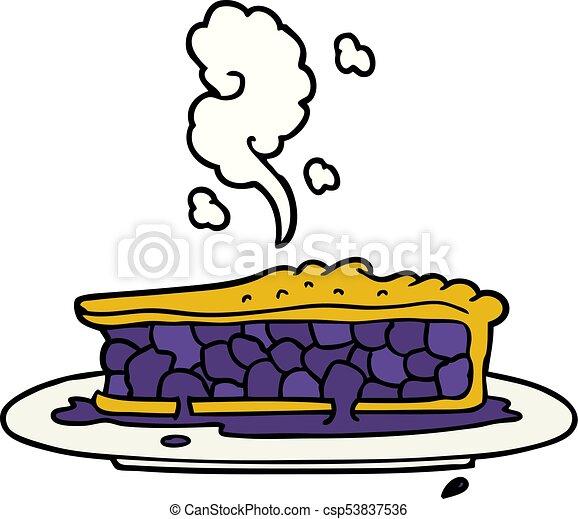 cartoon blueberry pie - csp53837536